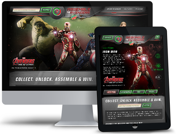 The Assemble the Avengers Promotional Platform
