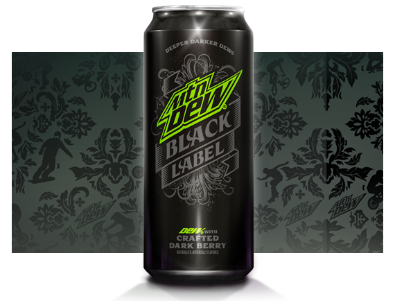Advertising for Mtn Dew Black Label