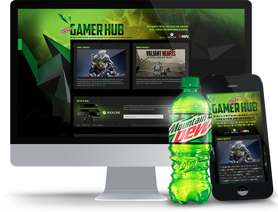 The Mtn Dew Gamer Hub Project