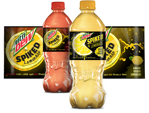 New packaging for Mtn Dew's Spiked Lemonade