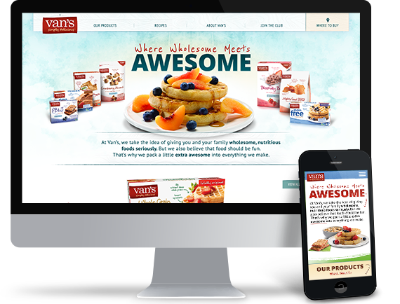 The Vans Foods website redesign