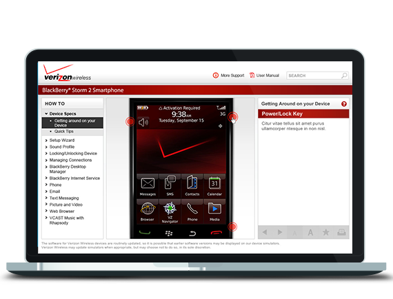 My work on the Verizon Wireless Device Simulator