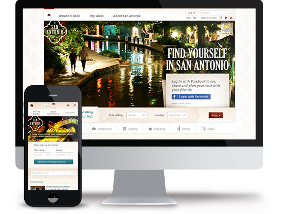 The responsive Tourism and booking web platform for the City of San Antonio
