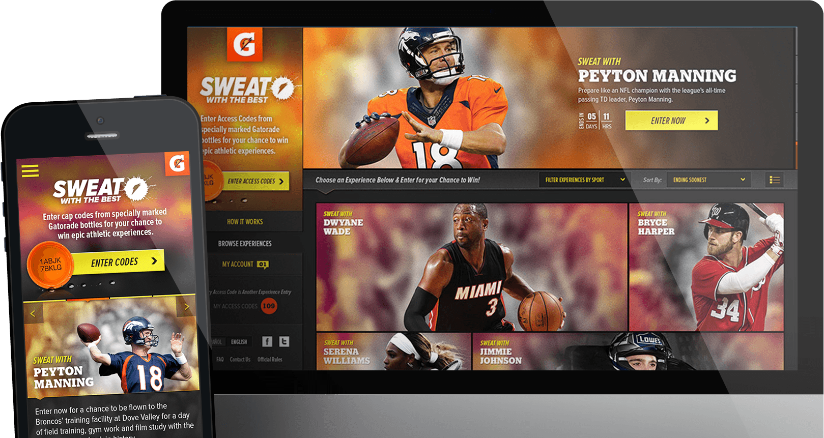 Images of the Gatorade - Sweat with the Best project