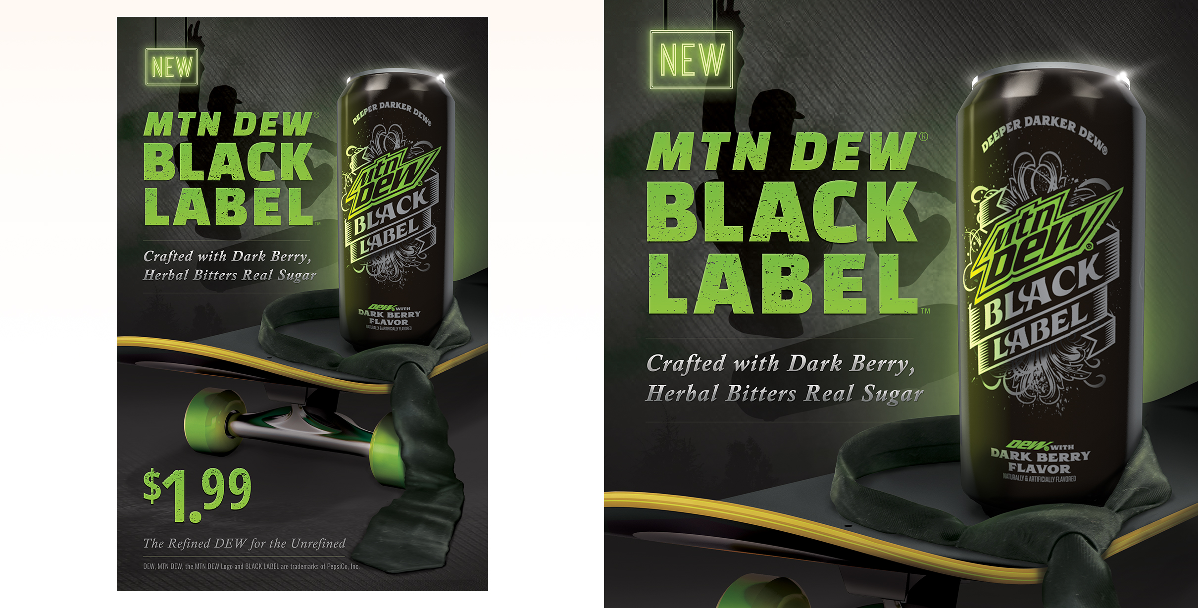 First concept for Mtn Dew Black Label