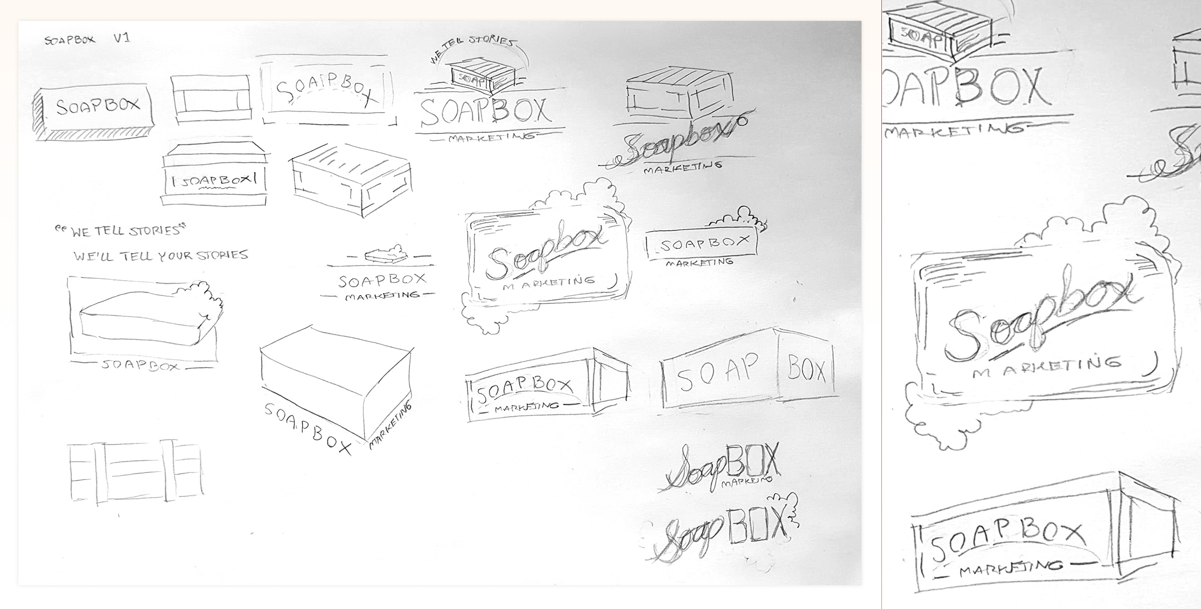 Ideation on the new Soapbox Brand